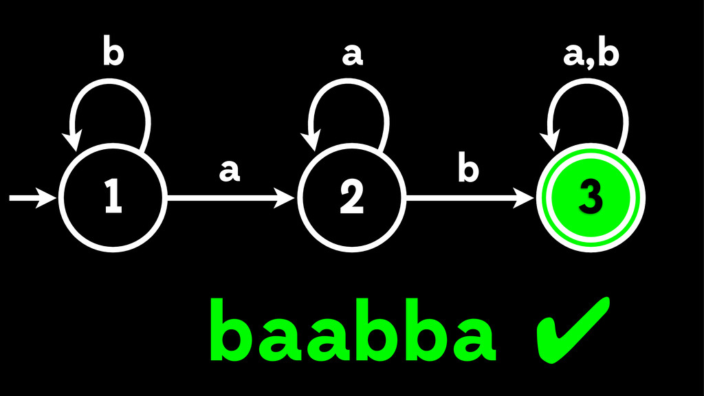 1 3 a b b , a a b a b bb aa 3 2 ✔