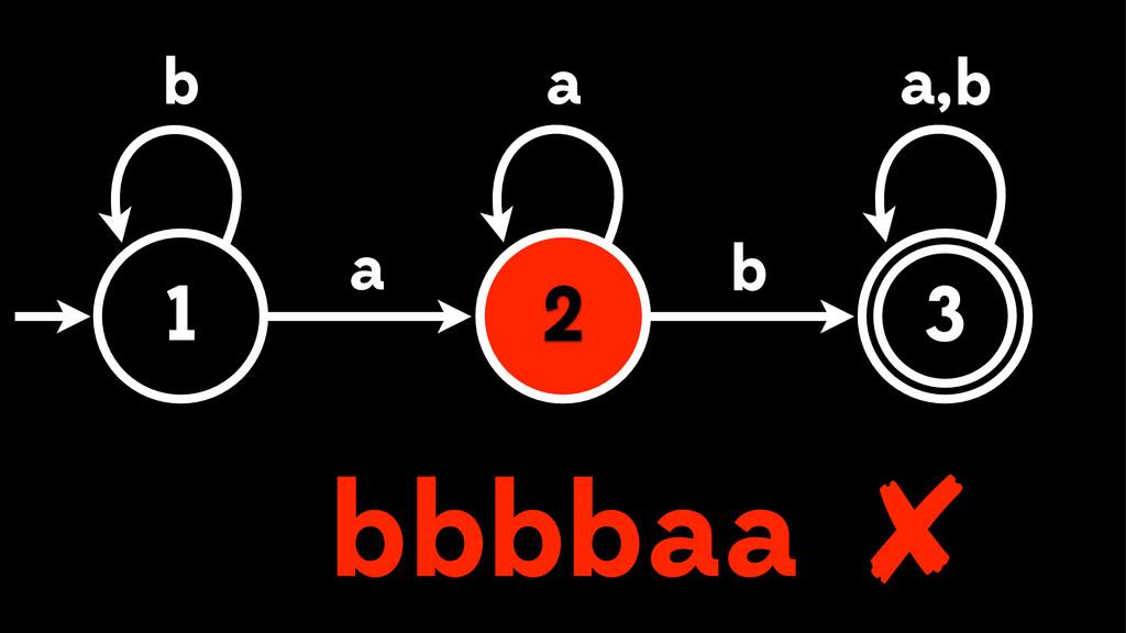 a a 1 2 3 a b b , a a b b b bb ✘ 2