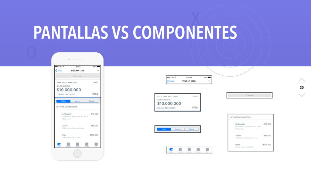 X O 30 PANTALLAS VS COMPONENTES