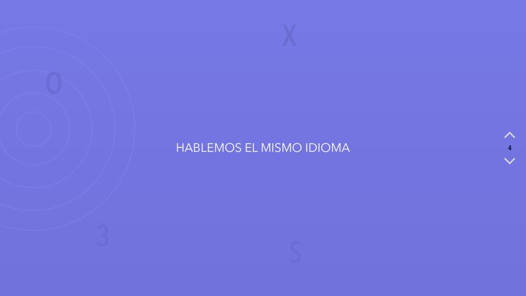 X O S 3 4 HABLEMOS EL MISMO IDIOMA