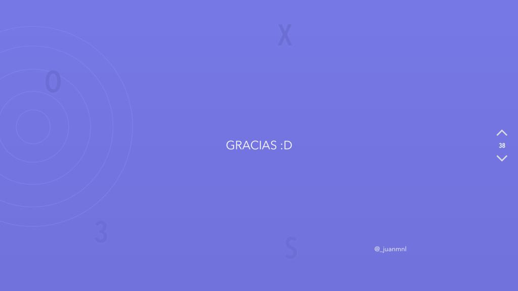 X O S 3 38 GRACIAS :D @_juanmnl