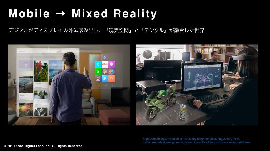 Mobile → Mixed Reality © 2019 Kobe Digital Labo...
