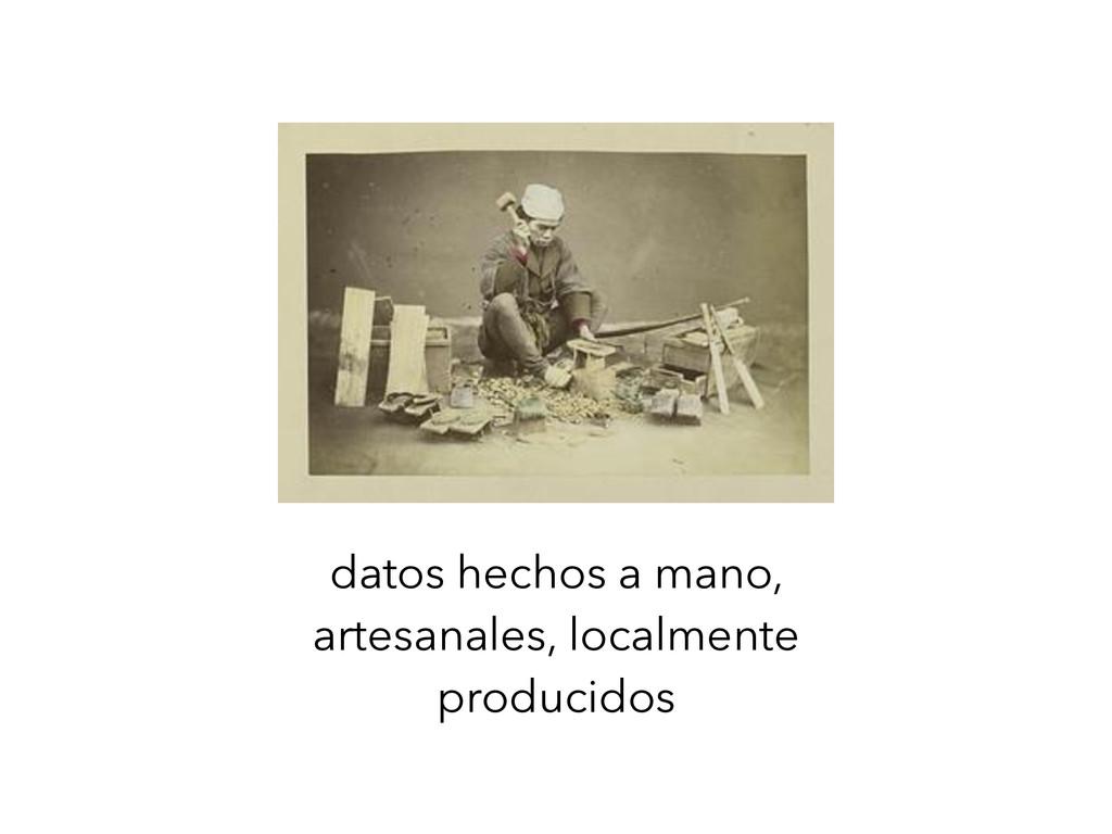 datos hechos a mano, artesanales, localmente pr...