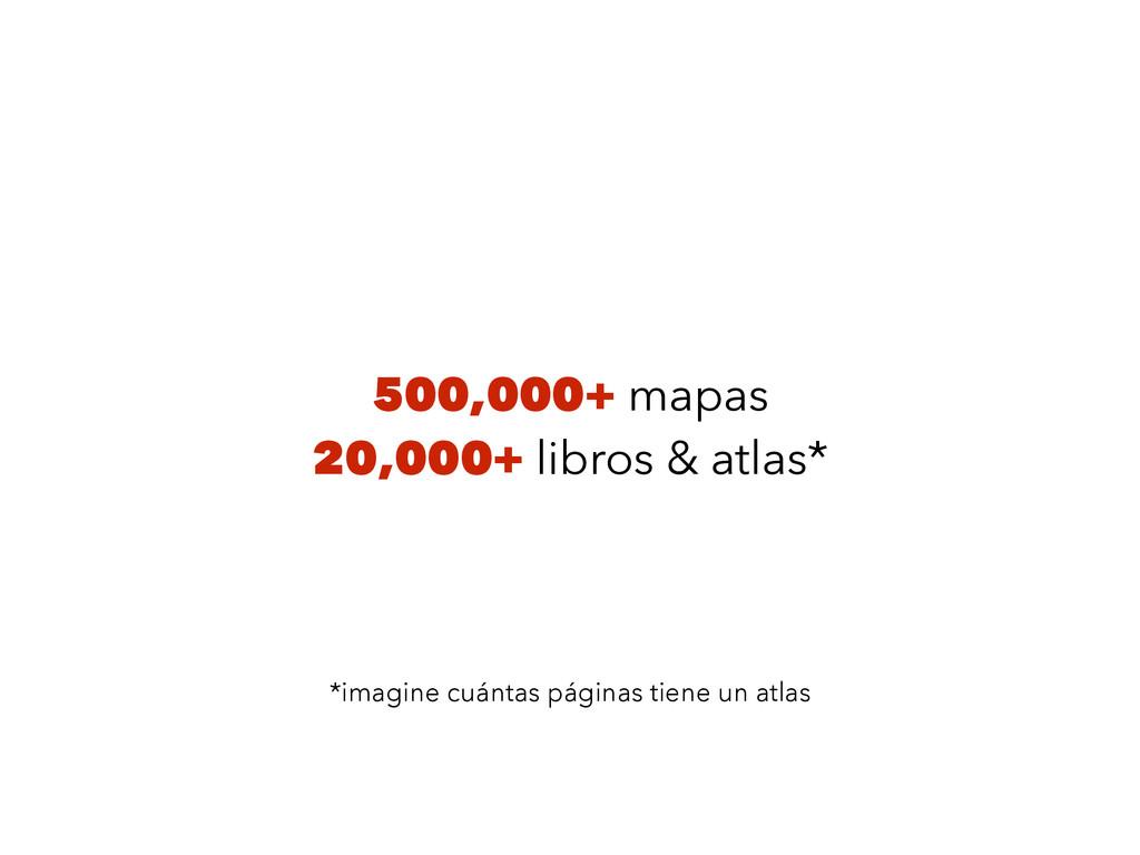 500,000+ mapas 20,000+ libros & atlas* *imagine...