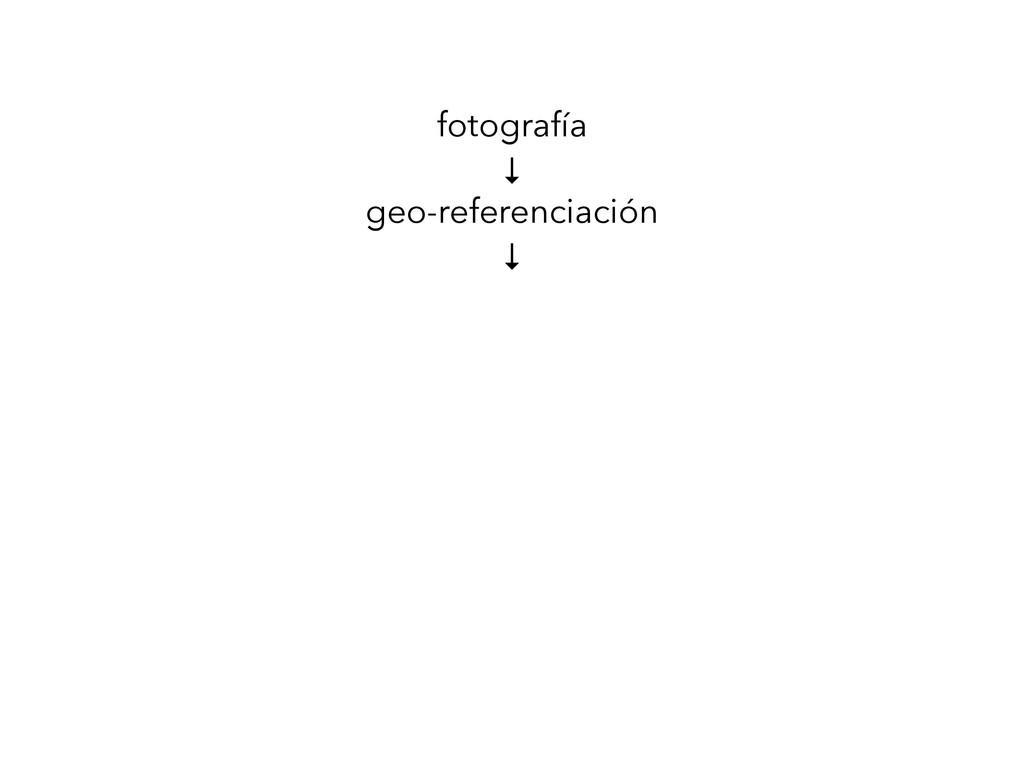 fotografía ↓ geo-referenciación ↓