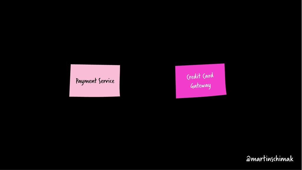 Payment Service Credit Card Gateway @martinschi...