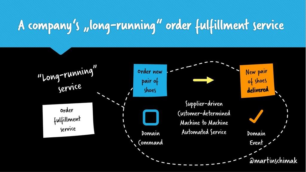 "A company's ""long-running"" order fulfillment se..."