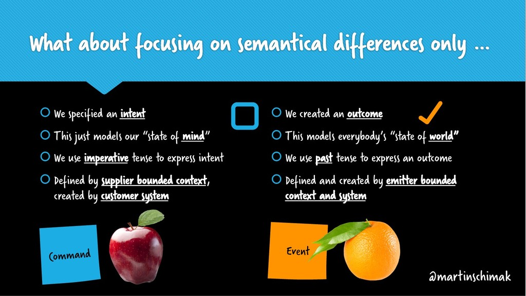 What about focusing on semantical differences o...