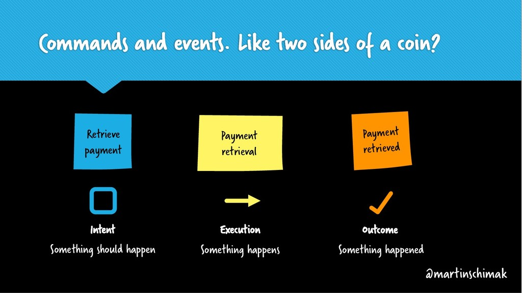 Commands and events. Like two sides of a coin? ...