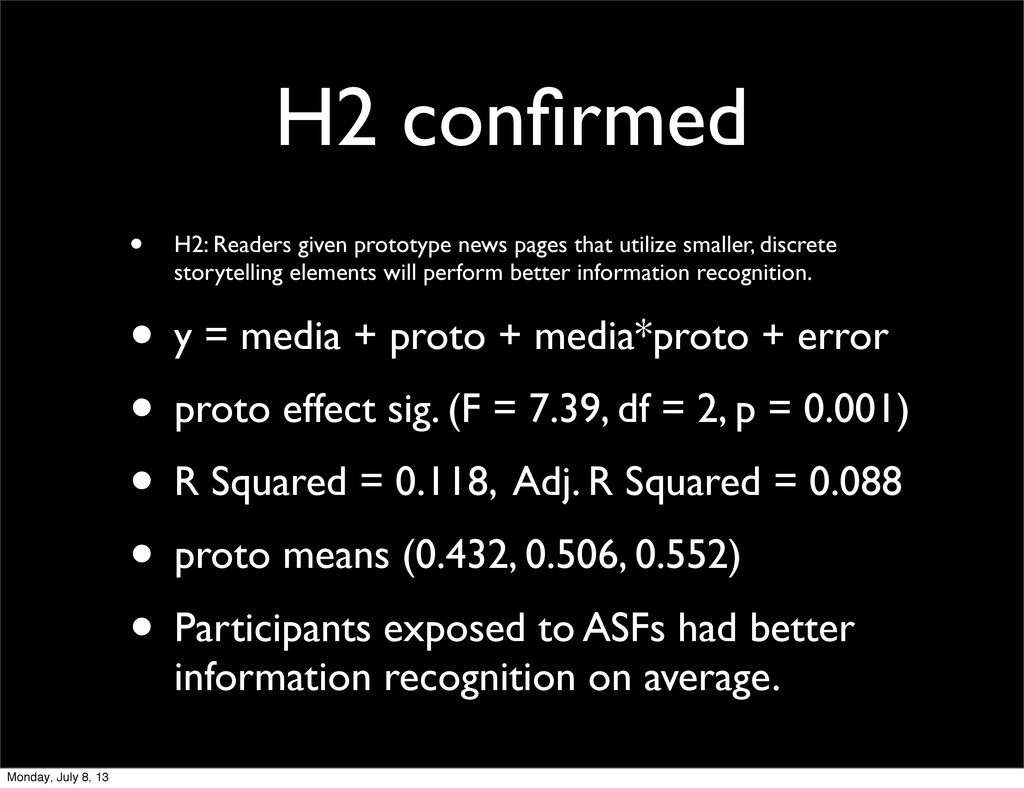 H2 confirmed • H2: Readers given prototype news ...