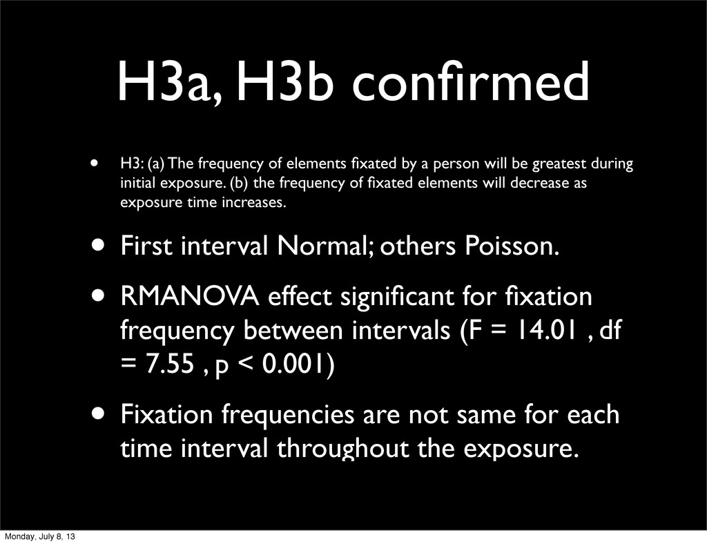 H3a, H3b confirmed • H3: (a) The frequency of el...