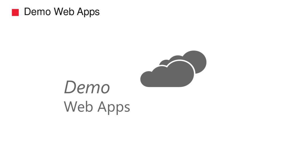 Demo Web Apps Demo Web Apps