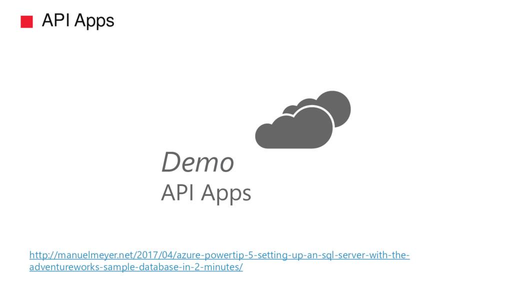 API Apps Demo API Apps http://manuelmeyer.net/2...