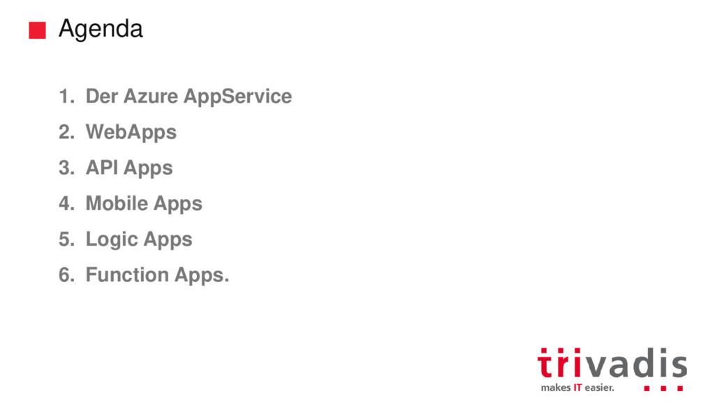 Agenda 1. Der Azure AppService 2. WebApps 3. AP...