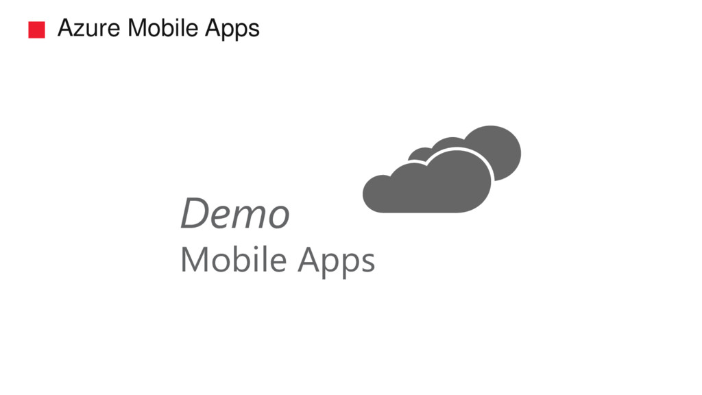 Azure Mobile Apps Demo Mobile Apps