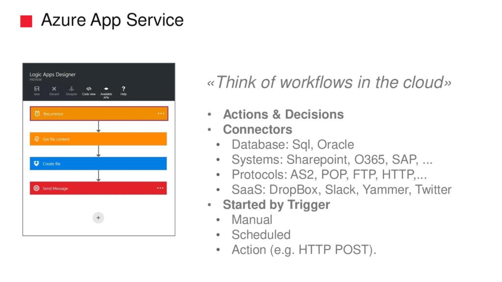 Azure App Service • Actions & Decisions • Conne...
