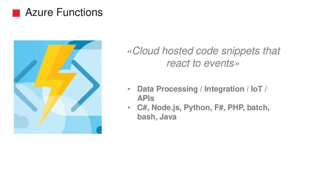 Azure Functions • Data Processing / Integration...