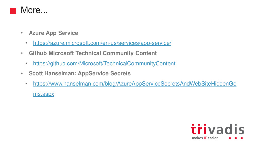 More... • Azure App Service • https://azure.mic...