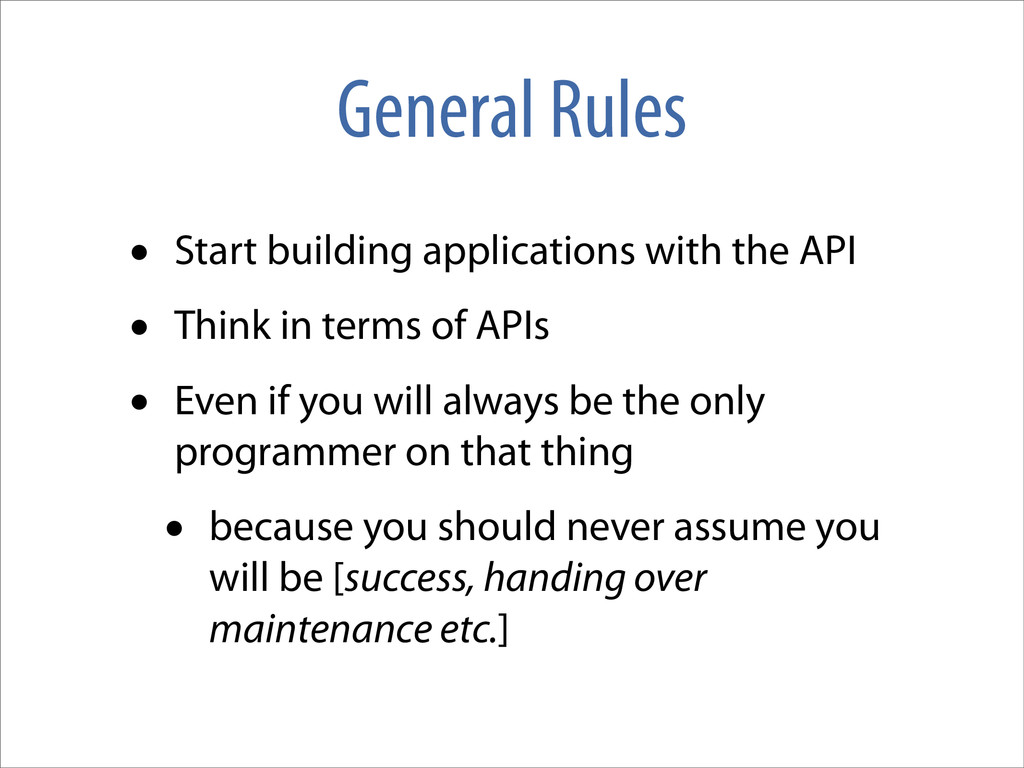 General Rules • Start building applications wit...