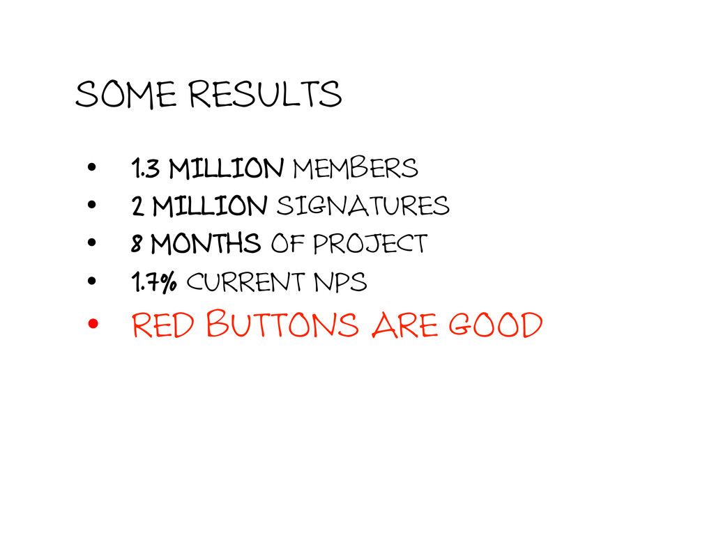 SOME RESULTS • 1.3 MILLION MEMBERS • 2 MILLIO...