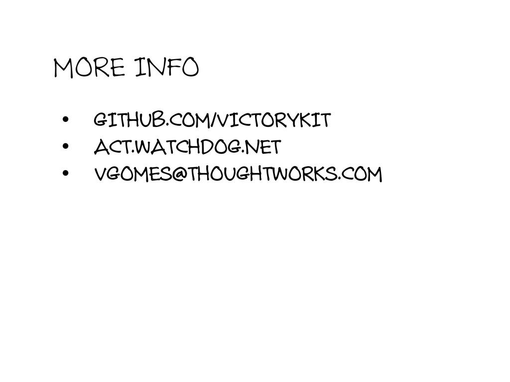 MORE INFO • GITHUB.COM/VICTORYKIT • ACT.WATCH...