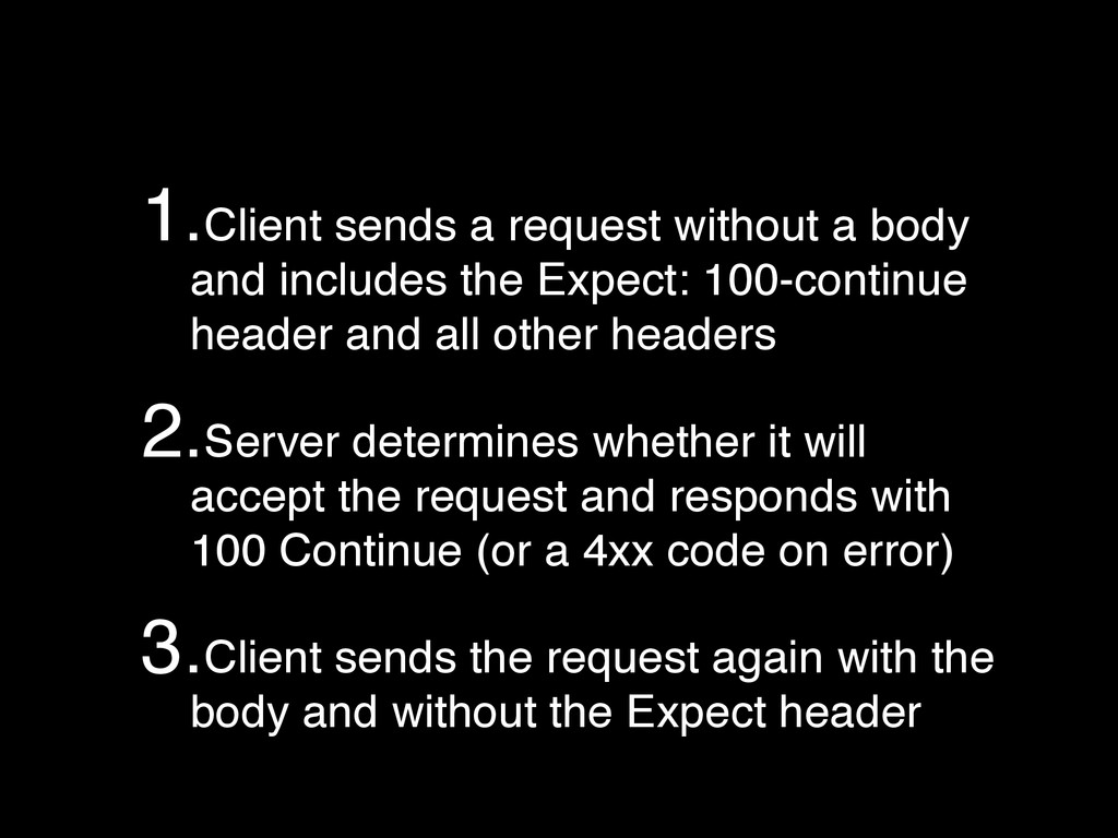 1.Client sends a request without a body and inc...
