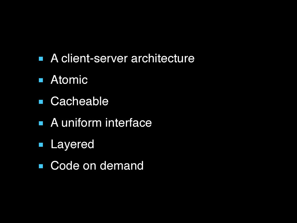 ■ A client-server architecture ■ Atomic ■ Cache...