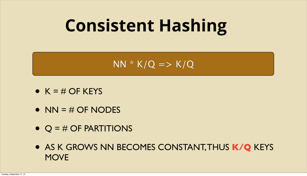 NN * K/Q => K/Q • K = # OF KEYS • NN = # OF NOD...