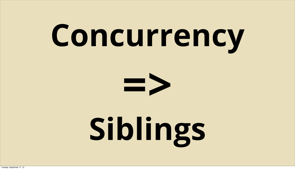 Concurrency => Siblings Tuesday, September 17, ...
