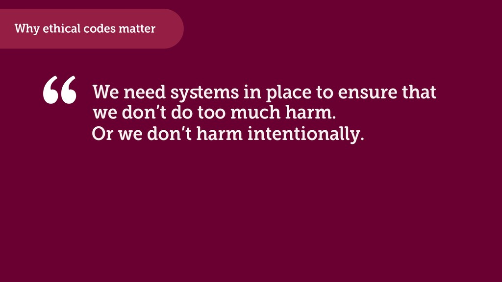 """We need systems in place to ensure that """" we don..."""
