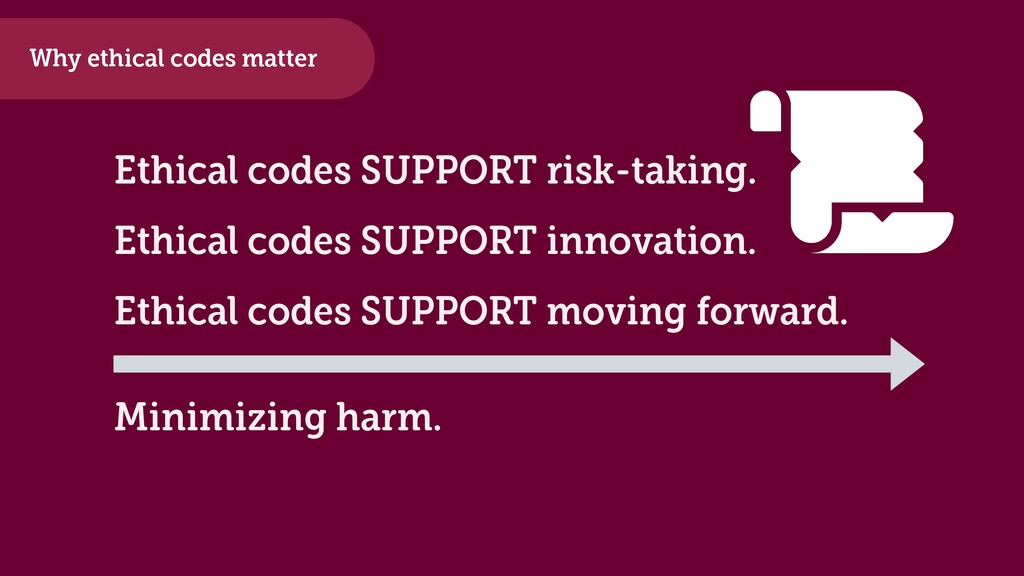 Ethical codes SUPPORT risk-taking. Why ethical ...