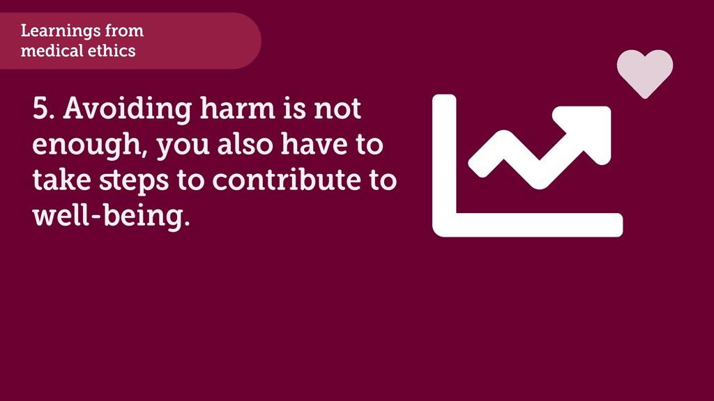 Learnings from medical ethics 5. Avoiding harm ...