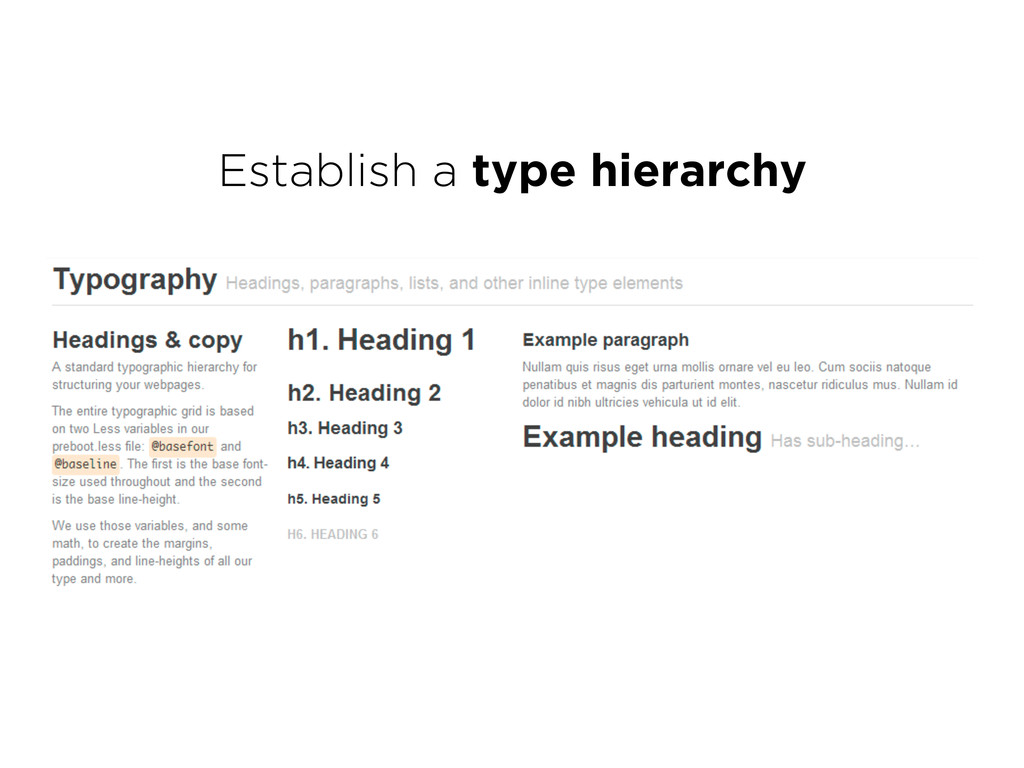 Establish a type hierarchy