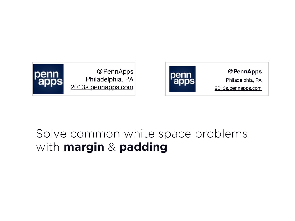 Solve common white space problems with margin &...