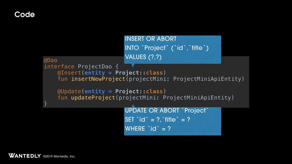 ©2019 Wantedly, Inc. Code @Dao interface Projec...
