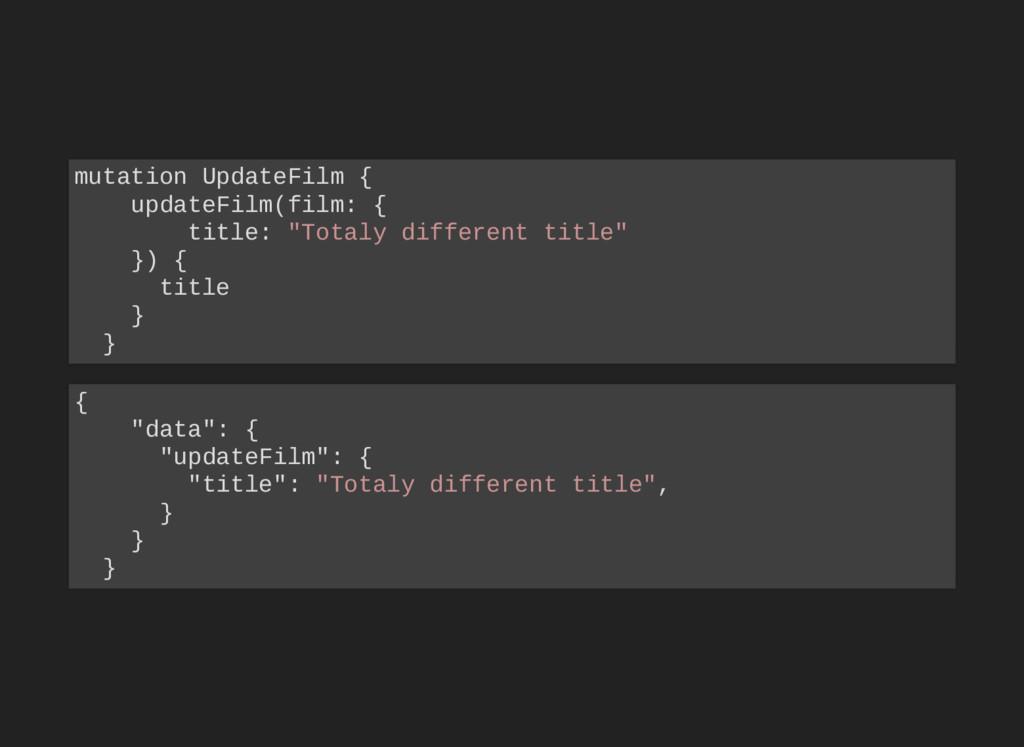 mutation UpdateFilm { updateFilm(film: { title:...