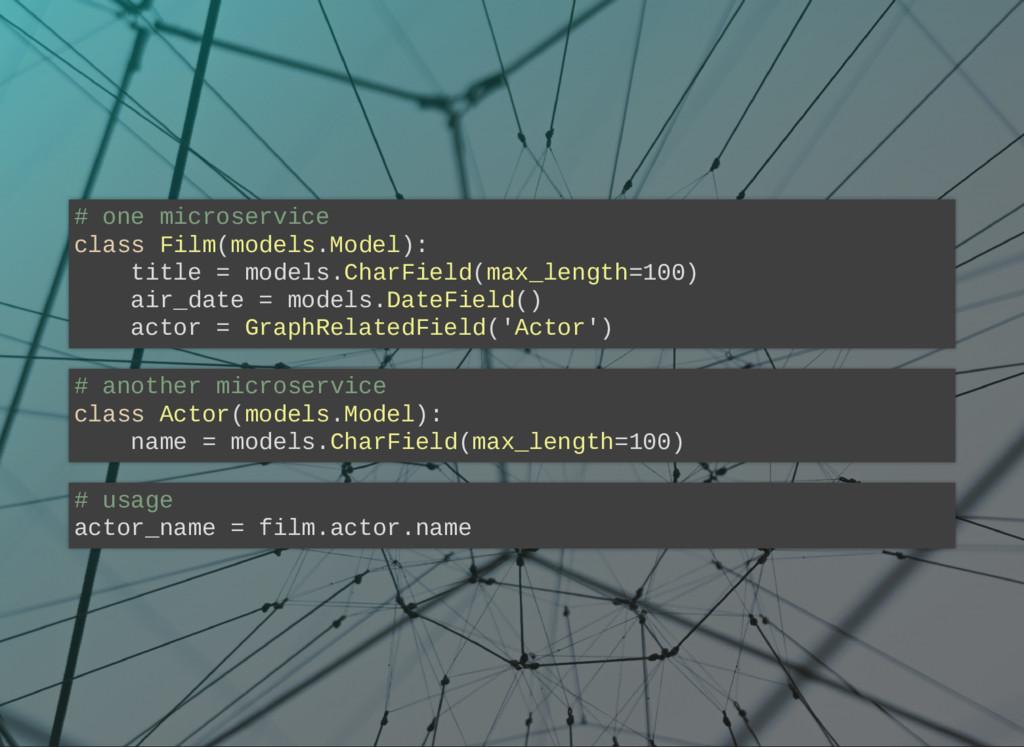 # one microservice class Film(models.Model): ti...