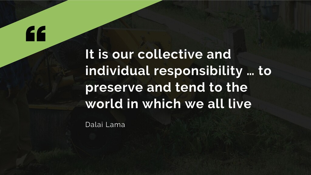 It is our collective and individual responsibil...