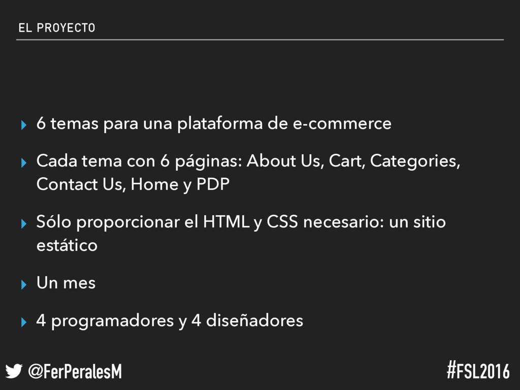 ! @FerPeralesM #FSL2016 EL PROYECTO ▸ 6 temas p...