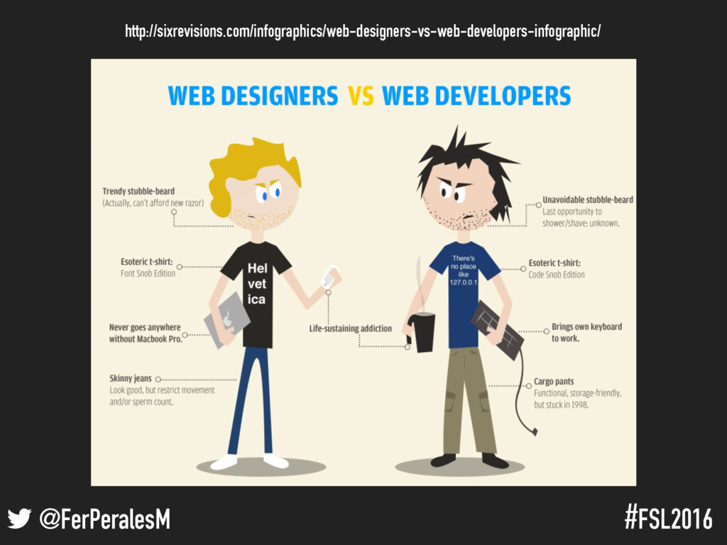 ! @FerPeralesM #FSL2016 Programadores vs. Diseñ...
