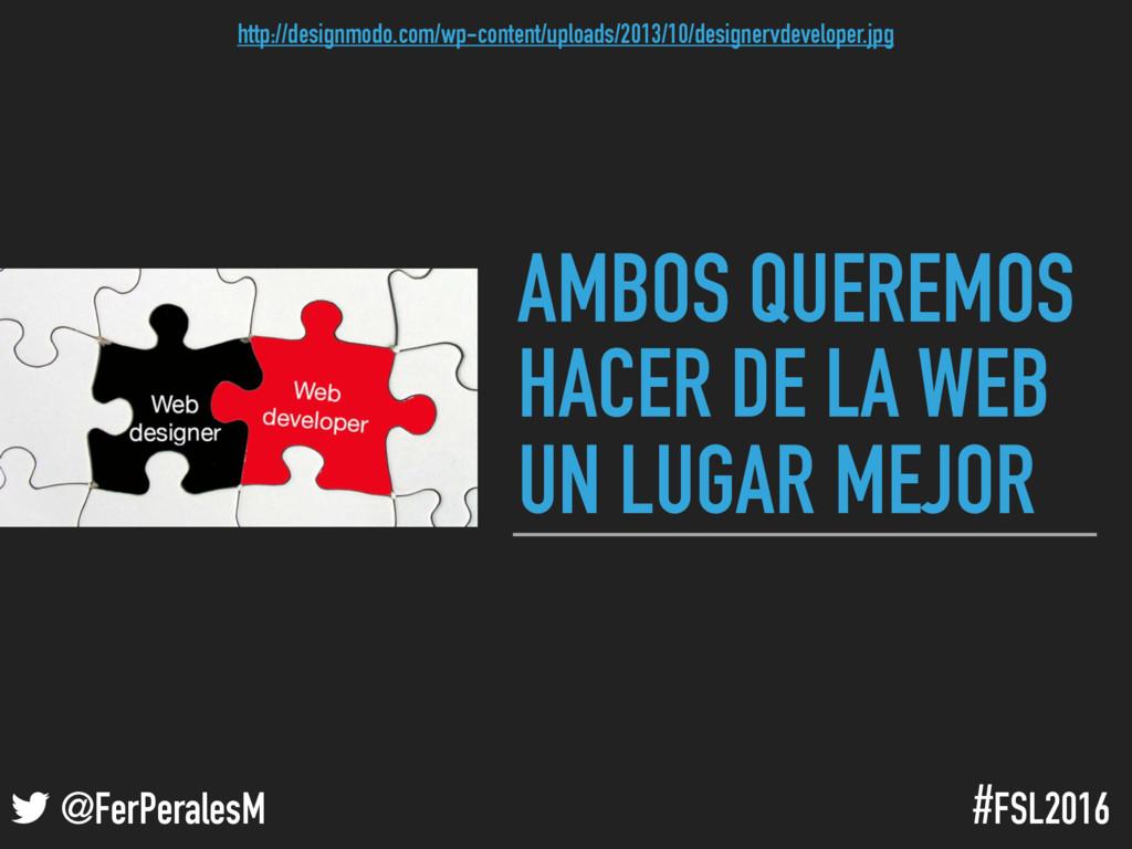 ! @FerPeralesM #FSL2016 AMBOS QUEREMOS HACER DE...