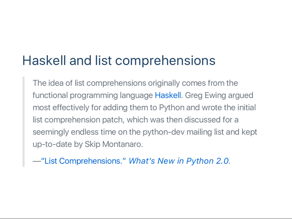 Haskell and list comprehensions The idea of lis...