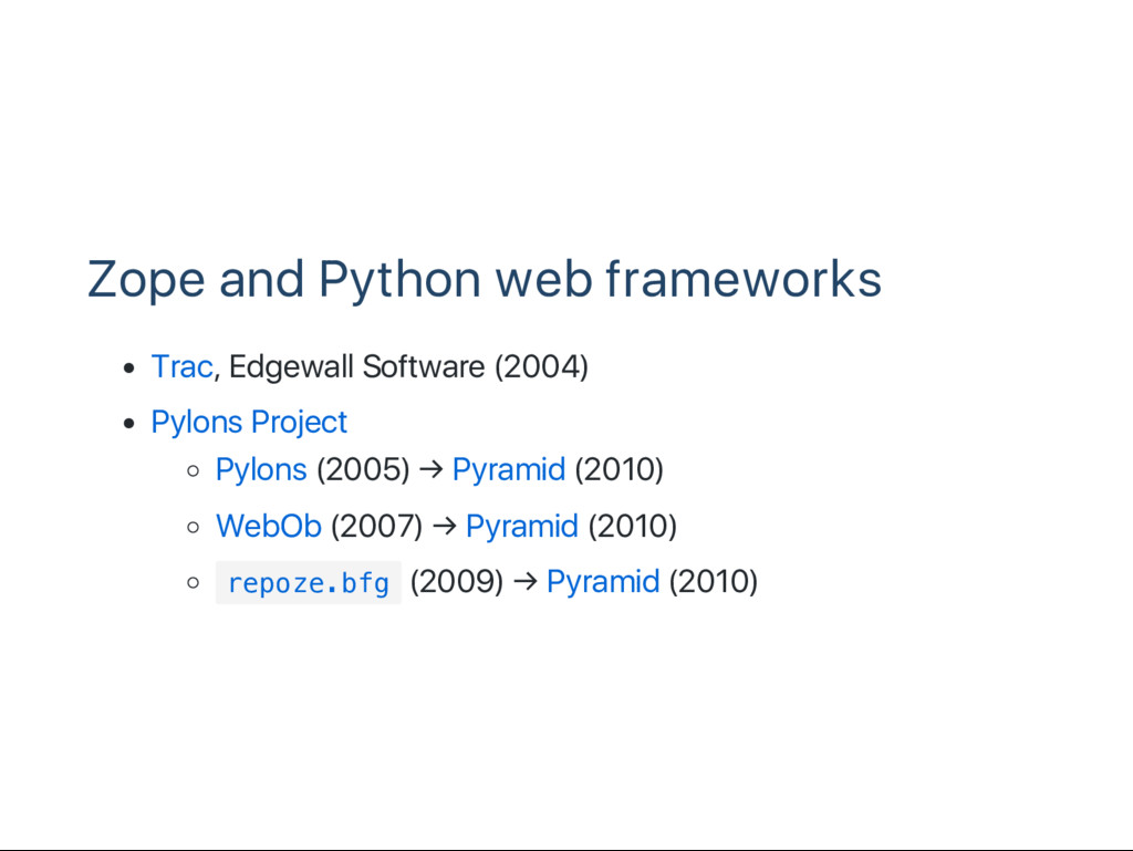Zope and Python web frameworks Trac, Edgewall S...
