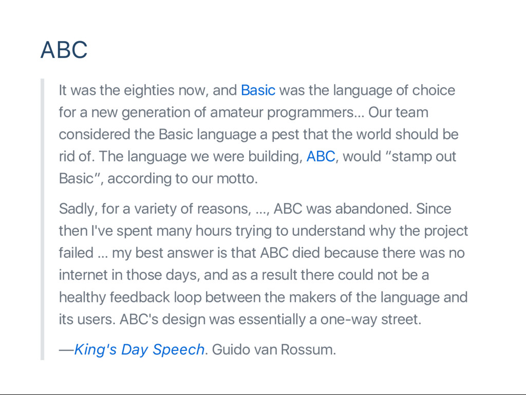 ABC It was the eighties now, and Basic was the ...