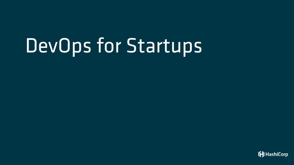 DevOps for Startups