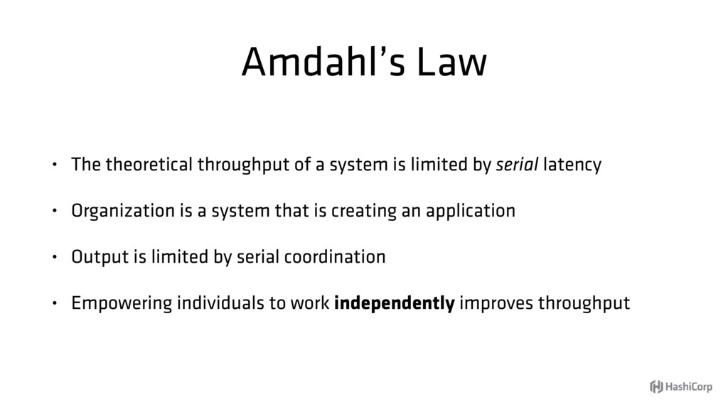 Amdahl's Law • The theoretical throughput of a ...