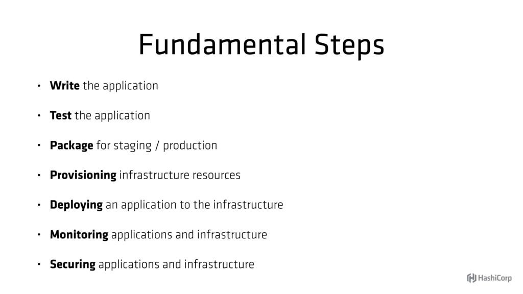 Fundamental Steps • Write the application • Tes...