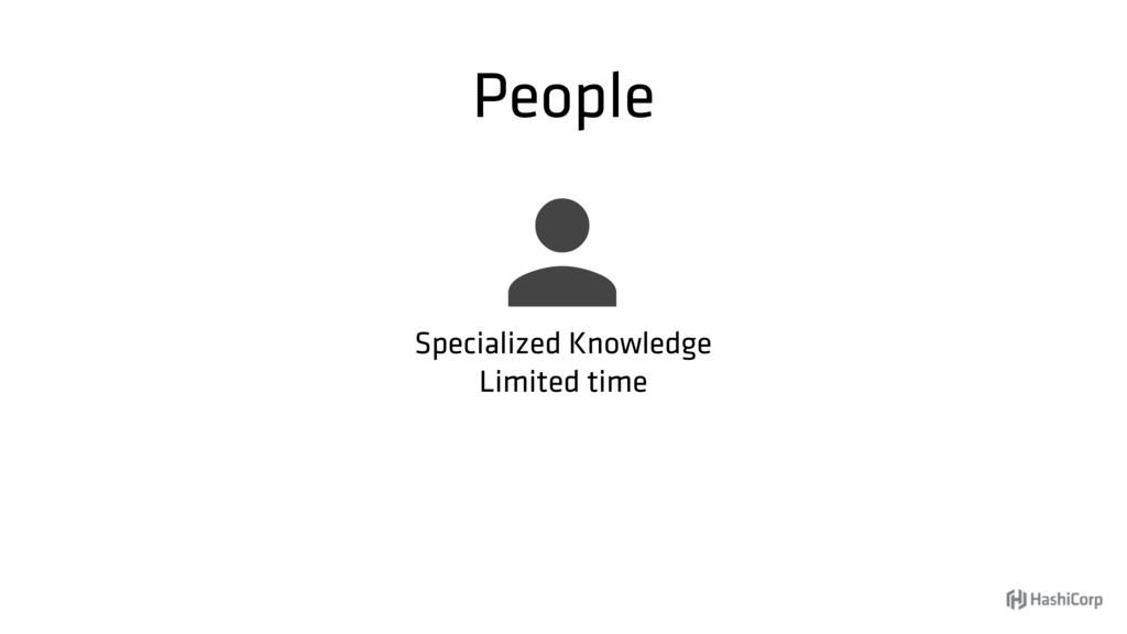 People  Specialized Knowledge Limited time