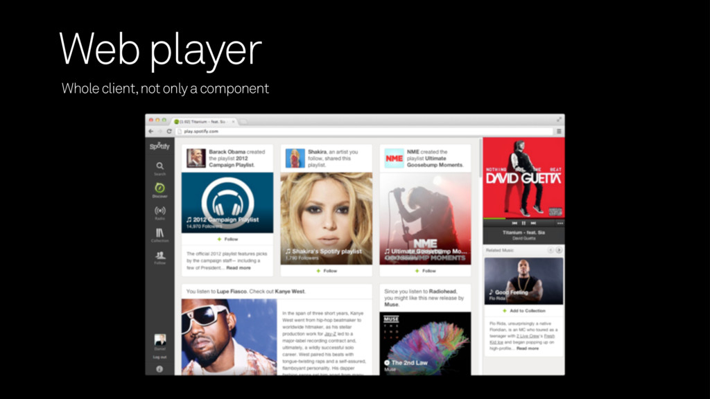 Whole client, not only a component Web player