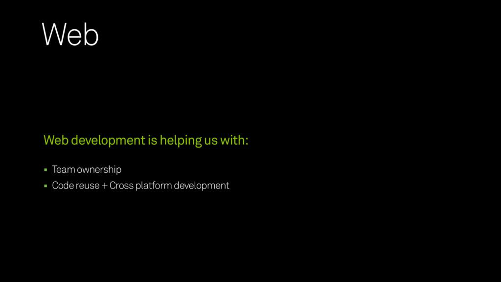 Team ownership Code reuse + Cross platform deve...